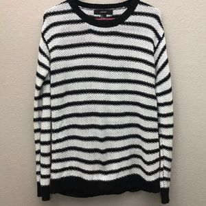 Forever21 black and white striped knit sweater.